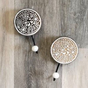 Other - Painted medallion wooden wall hooks